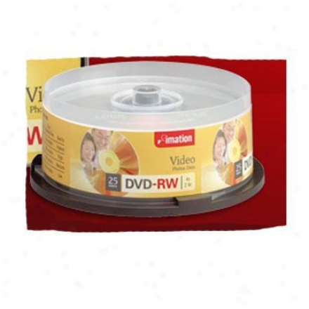 Imation 4x Dvd-rw 4.7gb 25pk Single-si