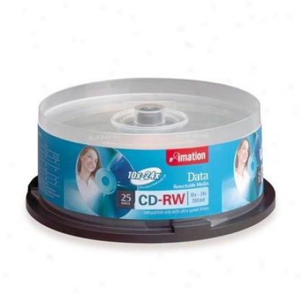 Imation Cdrw80 10-24x 25 Pk Spin