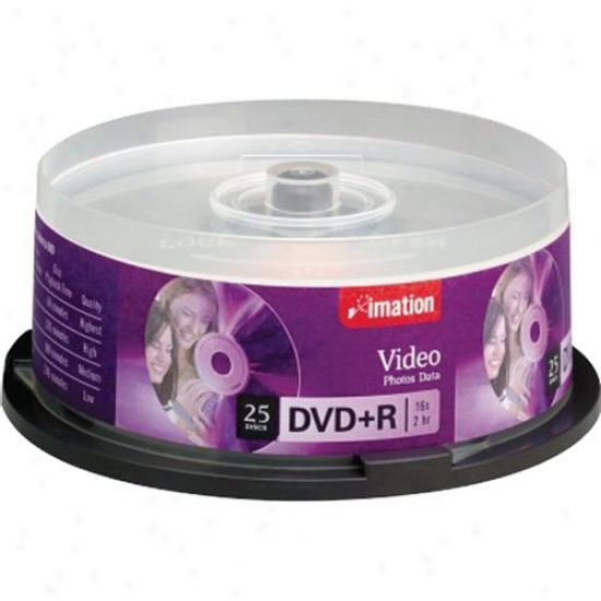 Imation Dvd+r 16x 25-pack Spindle - 17194