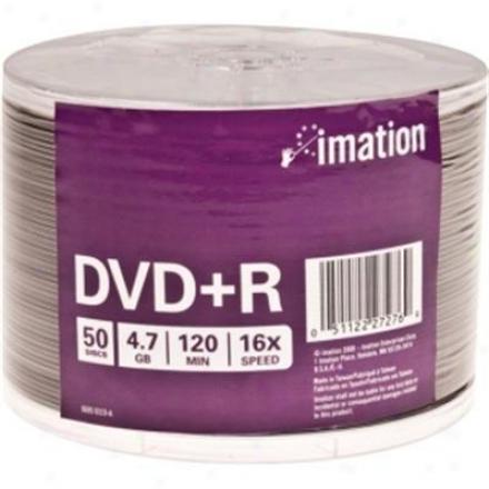 Imation Dvd+r 4.7gb 50pk Shrinkwrapped