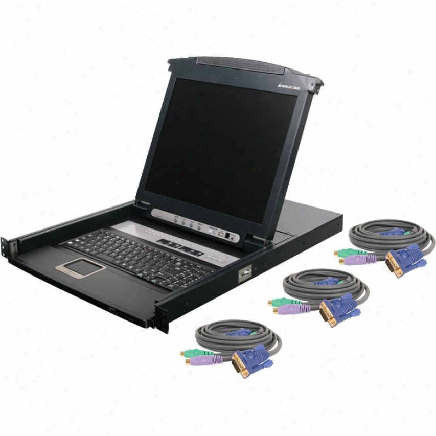 "Iogear 16-port 17"" Lcd Kvm W Ps/2"