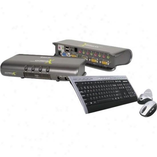 Iogear 4 Port Kvmp W Keyboard/mouse
