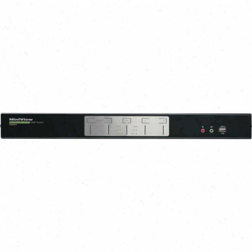 Iogear Gcs1644 4-port Dual View Dual-link Dvi Kvmp Switch With Audio