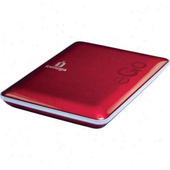 Iomega 34629 500gb Ego Podtable Hard Drive, Mac Edition - Ruby Red