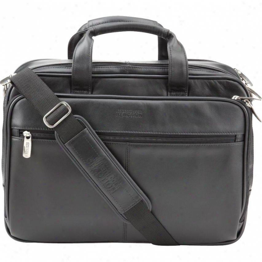 "Kenneth Cole K.cole Leather 15.4"" Portfolio 524965 - Black"