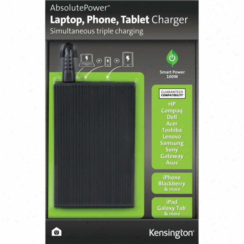 Kensington Absolutepower Laptop, Phone, Tablet Charger - K380800us