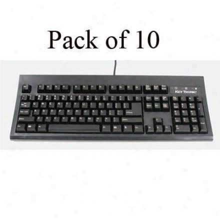 Keytronics 104 Key Keybrd Black Ps2 10pk