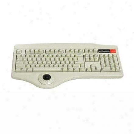 Keytronics Ps2 CableK eyboard In Beige