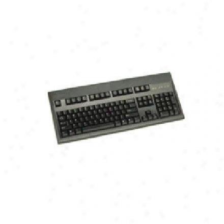 Keytronics Ps2 Keyboard In Black Rohs