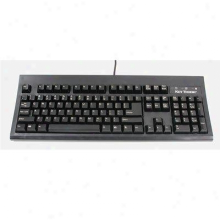 Keytronics Usb Cqble Keyboard Black