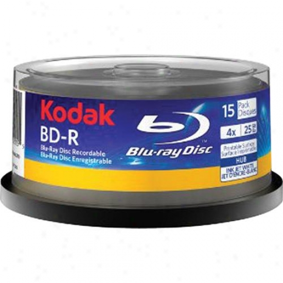 Kodam Bluray Disc Recordable Bd-r Printable Spindle - 15-pack 52115