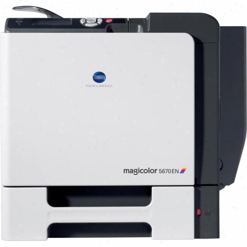 Konica Minolta A0ea012 Magicolor 5670en Color Laser Printer