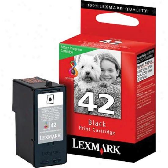 Lexmark 18y0142 42 Black Ink Cartridge