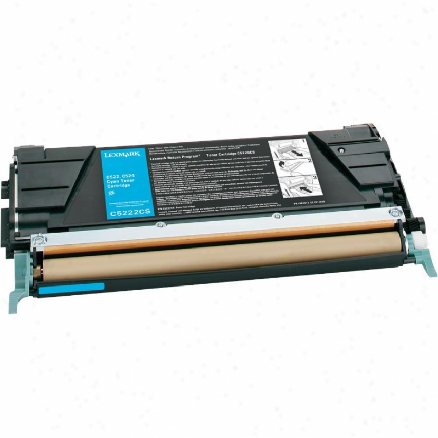 Lexmark C5222cs Cyan Toner Cartridge