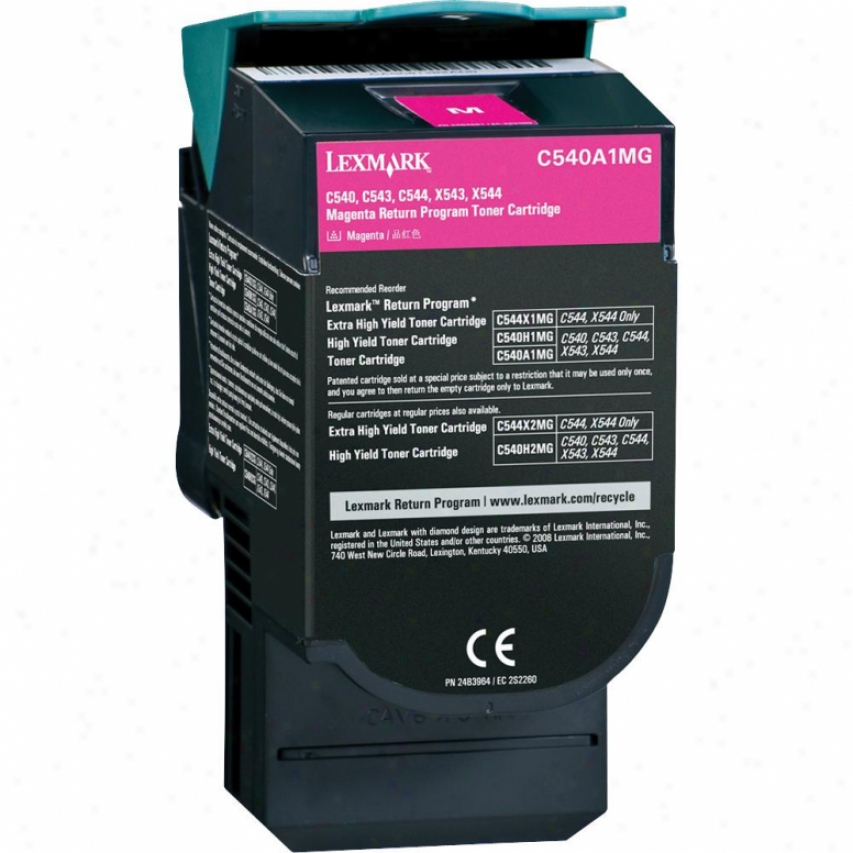 LexmarkC 540a1mg C54x, X54x Return Program Magenta Toner Cartridge