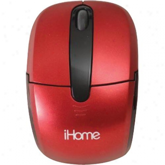Lifeworks Cordless Mobile Mouse Red