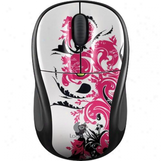 Logitech Wireless Mouse M305 - Floral Spiral