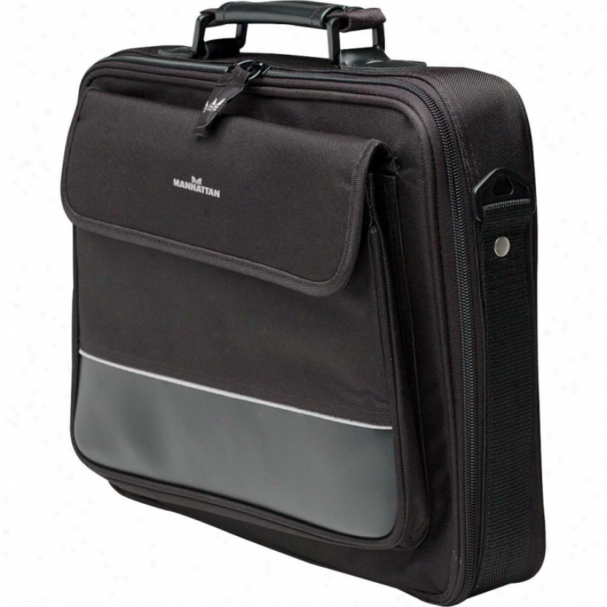 Manhattan Products Times Square Notebook Computerr Briefcase - Black/gray