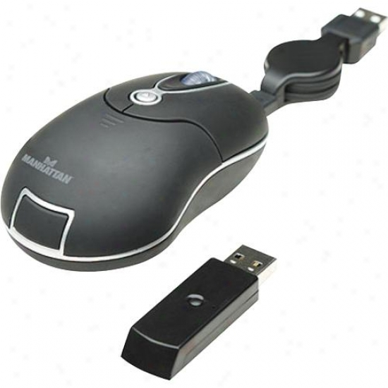 Manhattan Products Wireless Optical Mini Mouse