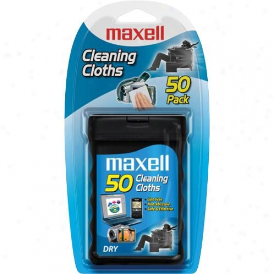 Maxell Cd-rom Cleaning Cloths (package Of 50)