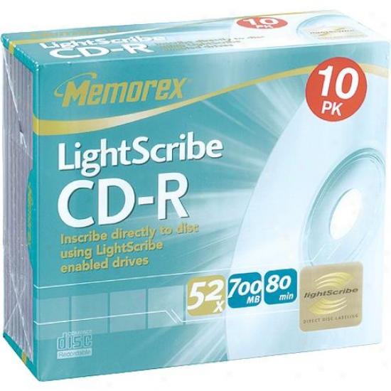 Memorex 10-pafk Of Cd-r 80 Discs