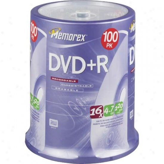 Memorex 3202-5621 100 Dvd+r Spindle Pack
