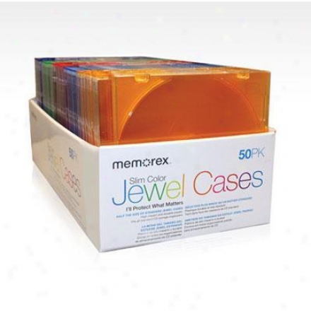 Memorex 5O Pk Jewel Cases
