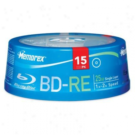 Memorex Bd-re 25gb 2x 15pk Axis
