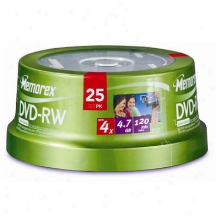 Memorex Dvd-rw 4.7gb 25 Pack Spnidle