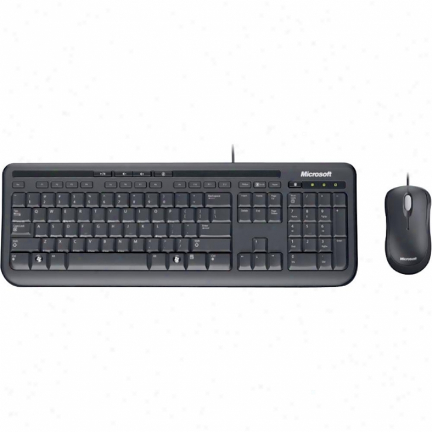 Miicrosoft Wired Desktop Mouse And Keyboard Set 600