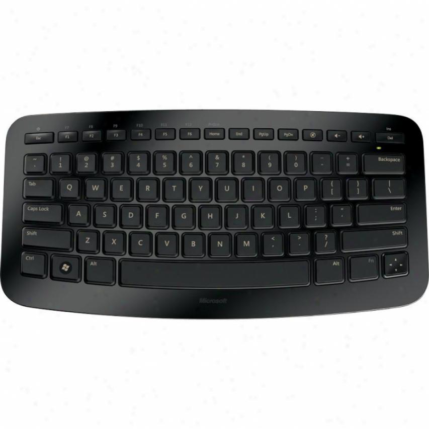 Microsoft Wireless Arc Keyboard - Black