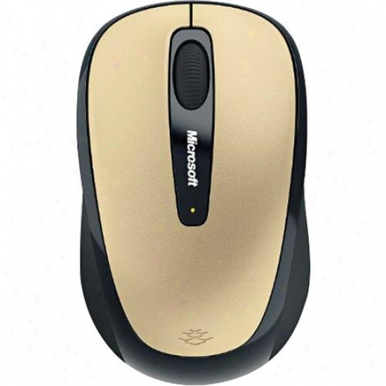 Microsoft Wireless Mobole Mouse 3500 - Gold - Gmf-00046