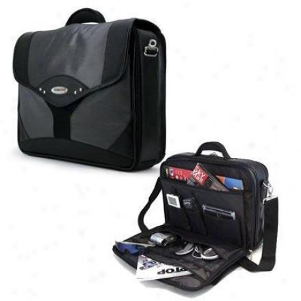 """Mobile Edge 15.4"""" Premium Briefcase Sllv/bk"""