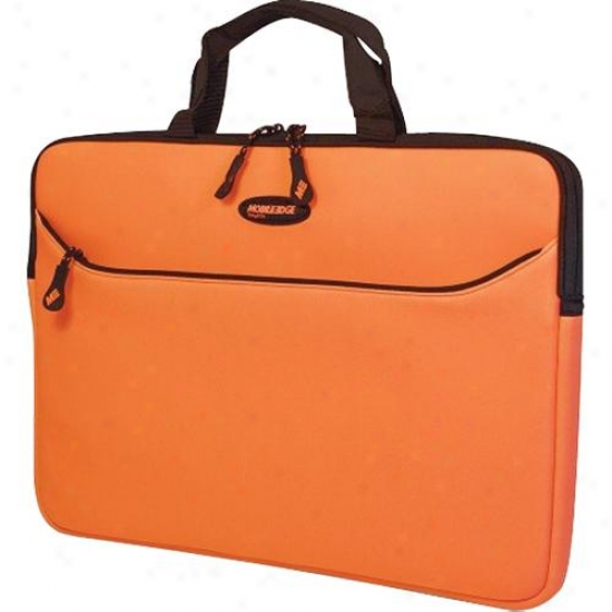 "Mobile Edge 17.3"" Notebook Slipsuit Sleeve - Orange With Black Trim"