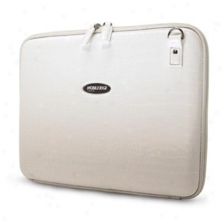 Mobile Edge Faux Croc Portfolio White