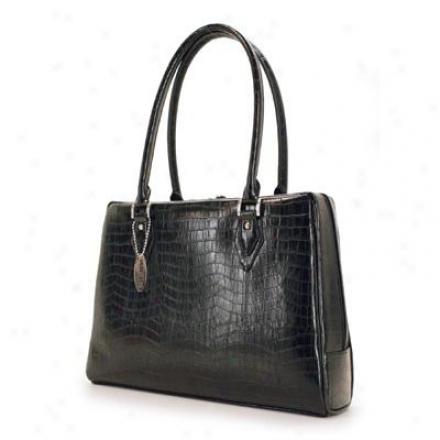 "Changeable Edge Milano Handbag 17"" Black"