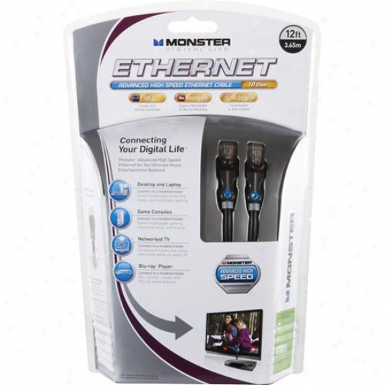 Monster Cable 122070 Advanced High Speed Ethernet Cable
