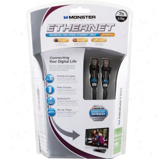 Monster Cable Open Box 122069 Advanced High Speed Ethernet Cable