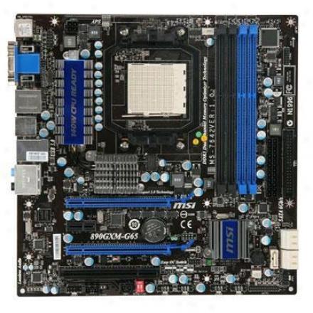 Msi Microstar 890gxm-g65 Am3 Amd 890gx Micro Atx Motherboard