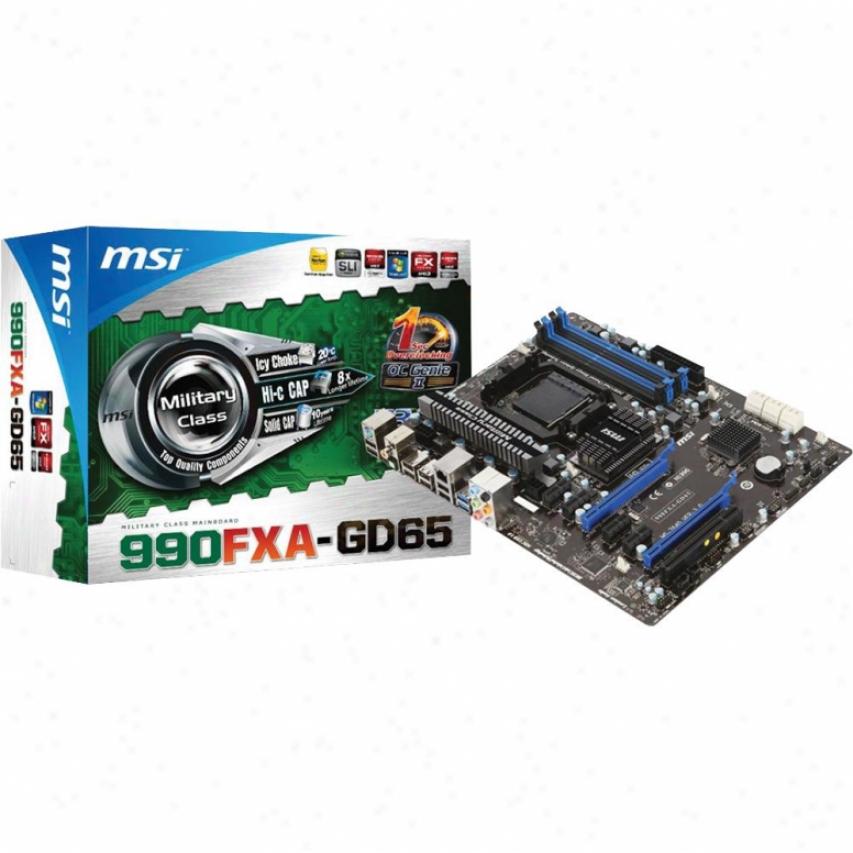 Msi Microstar 990fxa-gd65 Am3+ Amd 990fx Atx Amd Motherboard