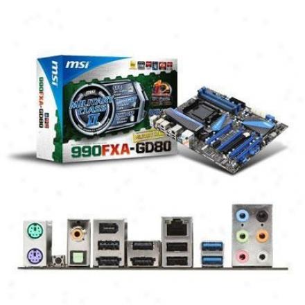 Msi Microstar 990fxa-gd80 Am3+ Amd 990fx Atx Amd Motherboard