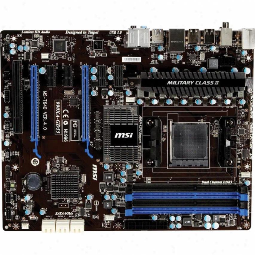 Msi Microstar 990x Am3 Atx 4ddr3 Scheme Motherboard 990xa-gd55