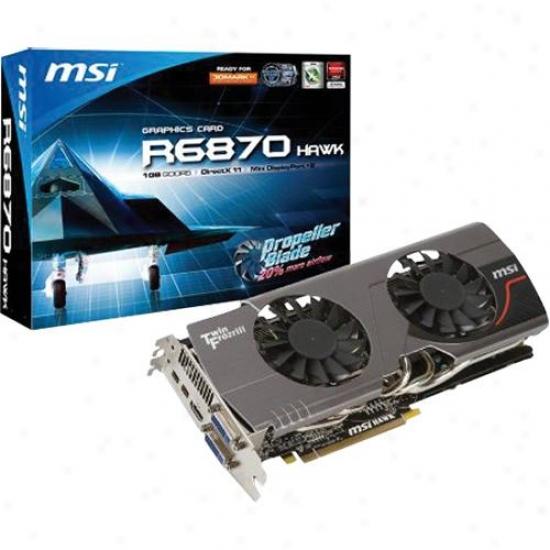 Msi Microstarr R6870 Hawk Radeon Hd 6870 1gb Gddr5 Pci Express 2.1 X16 Video Card