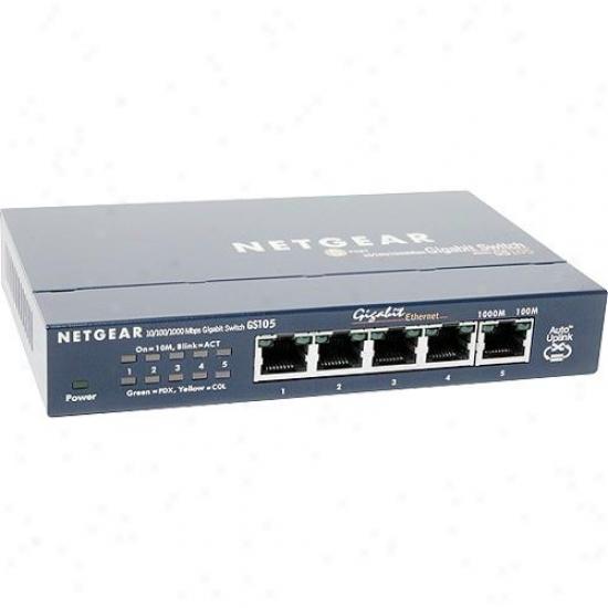 Netgear Gs105 Prosafe 5 Port Gigabit Desktop Switch