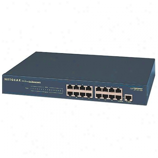 Netgear Jfs516 16 Port 10/100 Fast Ethernet Beat