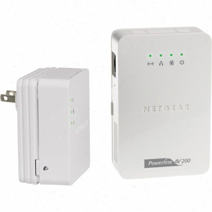 Netgear Powerline Av 200 Wireless-n Extender Kit - Xavnb2001-100nas