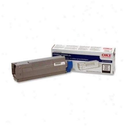 Okidata Blk Toner Cartridge, 5k Typec8