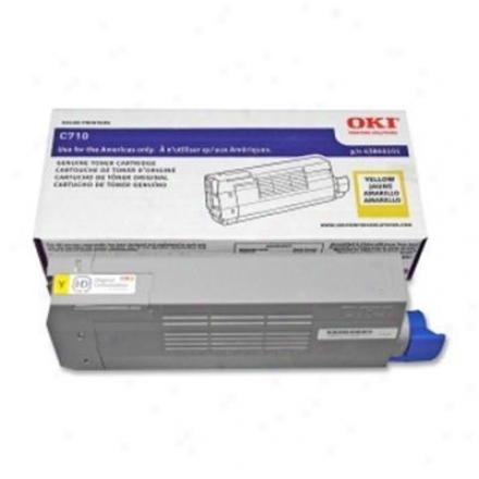 Okidata C710 Series Yellow Toner Cart