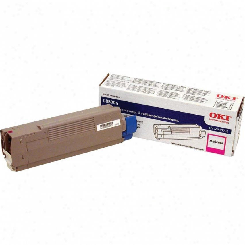 Okidata C8800 Series Magenta Toner Cartridge