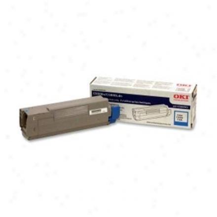 Okidata Cyan Toner Cartridge, 5k Typec